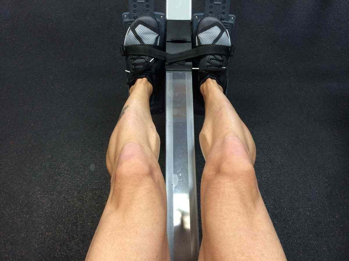 Someone using one of the best indoor rowing machines.