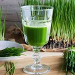 Drink made from raw barley grass juice powder.
