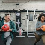 Man working to get new personal training clients.
