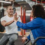 Two people enjoying 1 to 1 personal training.
