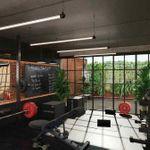 Gym flooring for home gym.