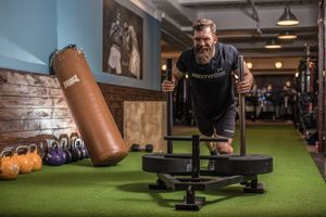 Man completing a high-intensity interval training (HIIT) workout