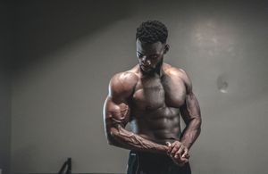 A man about to start strength training
