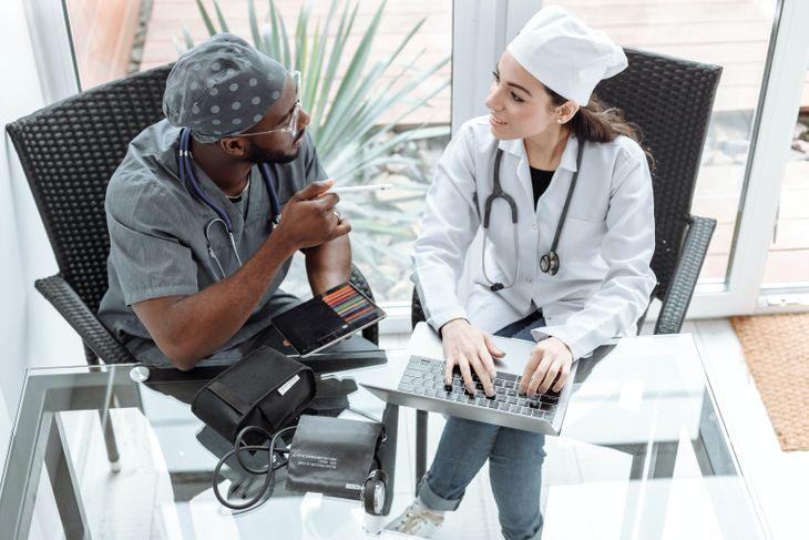 Doctors discussing TRT.