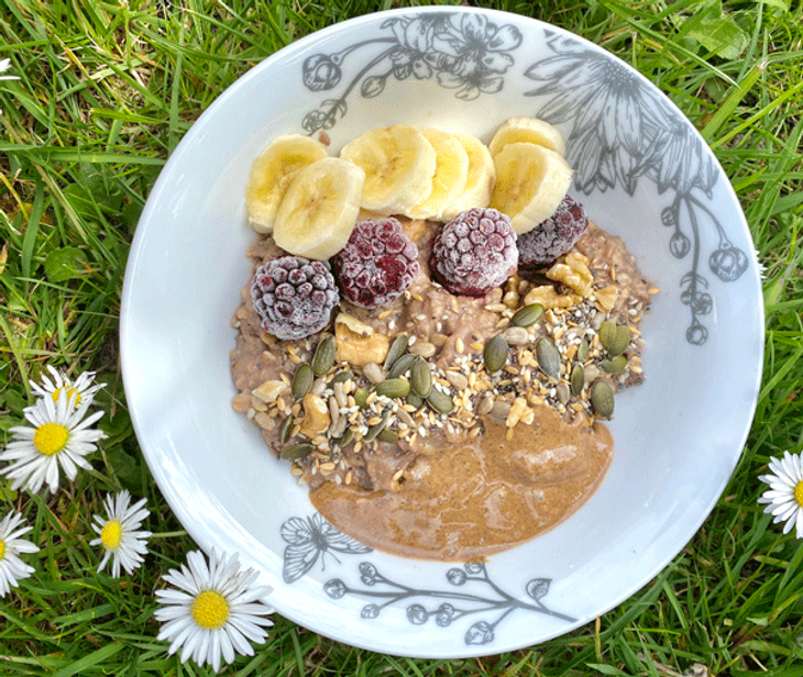 Food made by Lidia Peto, the inspiration behind this personal trainer story.