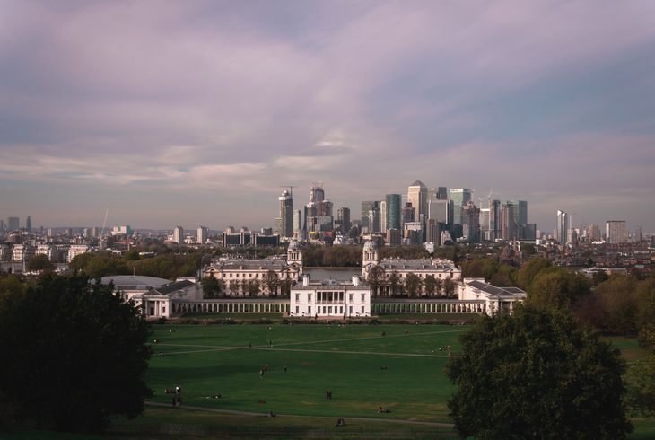 For amazing views, meet with your personal trainer in Greenwich Park.