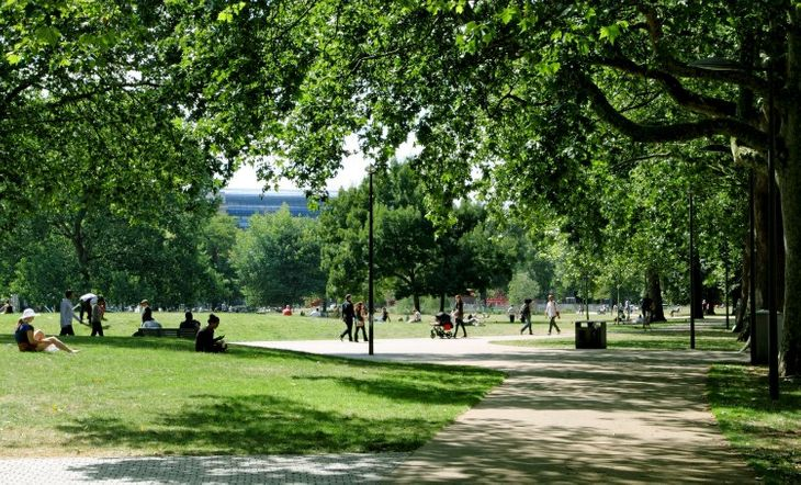 Escape the shops with a workout with your personal trainer in Fulham's Shepherd Bush Common.