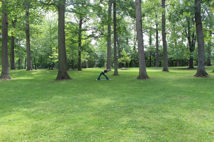 A personal trainer in Richmond's Kneller Gardens